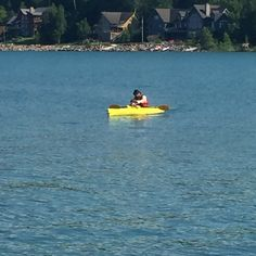 First kayak with daddy