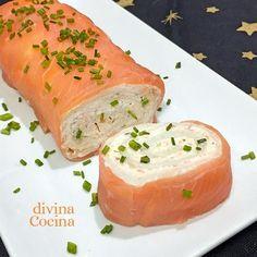 receta brazo gitano de salmon New Year's Food, Tasty, Yummy Food, Latin Food, Sweet Breakfast, Fish And Seafood, Fresh Rolls, Salmon Burgers, Finger Foods
