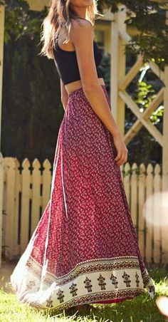 Cherry Blossom Maxi Skirt