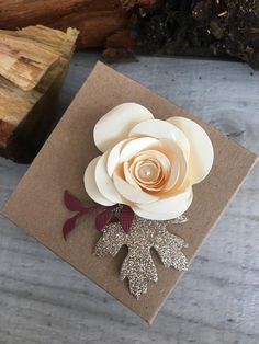 Items similar to Favour Boxes with Cream Flower on Etsy Favour Boxes, Cream Flowers, Handmade Wedding, Big Day, Color Schemes, Favors, Sweet Treats, Wedding Decorations, Sparkle