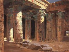 "didoofcarthage: "" The Temple of Isis on Philae Island by Vasily Polenov 1882 oil on canvas Tretyakov Gallery, Moscow """