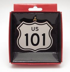 Route 101 Road Sign Brass Ornament Travel Souvenir West Coast Highway Memento #NationsTreasures