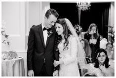 Black and White wedding photo at the Joseph Smith Memorial Building by photographer Brooke Bakken