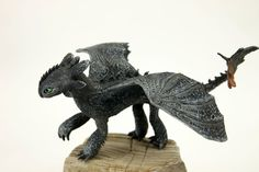 Baby Toothless Night Fury Dragon Sculpture от DemiurgusDreams