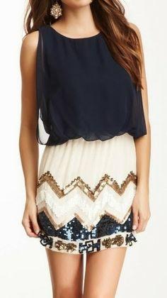 Chevron sequin dress | Gloss Fashionista