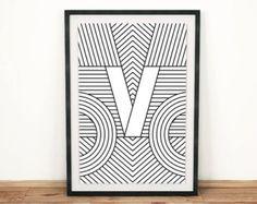 Impresión de la tipografía Imprimir M la por FactoryTwentyOne