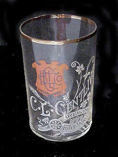 C.L. Centlivre Brewing Co. beer glass Fort Wayne Indiana