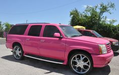 Nice Cars girly Girly Cars & Pink Cars Every Women Will Love!: Pink Escalade& (A Girls . Cadillac Escalade, Sexy Cars, Hot Cars, My Dream Car, Dream Cars, Pink Truck, Girly Car, Chevy Girl, Pink Cadillac