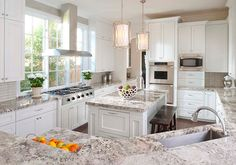Alaskan White Granite Countertops Design, Pictures, Remodel, Decor and Ideas Home Kitchens, White Granite Countertops, Custom Kitchens Design, Luxury Kitchens, G Shaped Kitchen, Kitchen Countertops, New Kitchen, Granite Kitchen, Luxury Kitchen Design