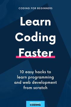Learning to code feels difficult? You want to see results more quickly? No problem! Check out these 10 smart hacks to learn coding and web development faster – even if you are entirely new to computer programming. Find the right programming language to learn, and start a free coding course or tutorial to build your first small coding project today! #mikkegoes Learn Programming, Programming Languages, Computer Programming, Learn Html, Learn To Code, Learn Coding, Free Coding Courses, Coding For Beginners, Good Tutorials