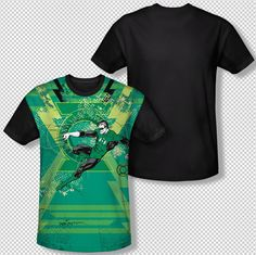 Green Lantern Wield The Power Energy Ring All Over Front Sublimation T-shirt Top Mens Sizes: S, M, L, XL, 2XL, 3XL