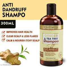 Hair Care Volamena Ginger & Tea Tree Shampoo   *Product Name* Ginger & Tea Tree Shampoo with Anti Dandruff Active Ingredients 300 ml 10fl oz …     *Brand Name* Volamena     *Product  Type* Conditioner  *Capacity* 300 ml  *Package Contains* It Has 1 Pack of Volamena Shampoo  *Sizes Available* Free Size *   Catalog Rating: ★4 (1330)  Catalog Name: Free Gift Hair  Volamena Hair Care Product Vol 1 CatalogID_199755 C50-SC1249 Code: 781-1536957-