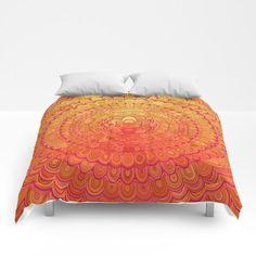 NEW artwork: Aztec Flower Mandala Comforter by David Zydd #designgift #giftideas #gifts #duvetcover