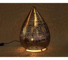 Nickel Tear Drop Table Lamp