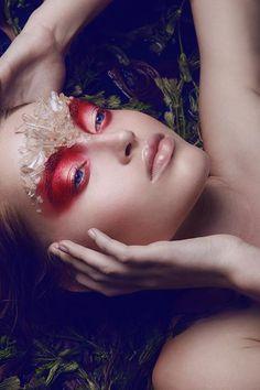 Красный макияж - Фото лучших makeup образов
