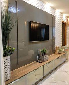A imagem pode conter: área interna Study Room Design, Home Room Design, House Design, Modern Tv Room, Modern Tv Wall Units, Tv Cabinet Design, Tv Wall Design, Bathroom Design Luxury, Luxury Interior Design