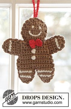 Drops Design, Crochet Design, Crochet Patterns, Knitting Patterns, Scarf Patterns, Christmas Projects, Christmas Crafts, Christmas Decorations, Crochet Yarn