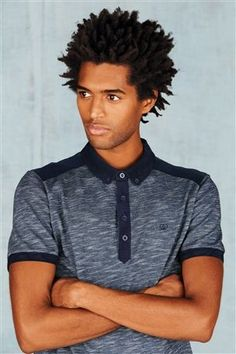 Buy Navy Knit Look Polo from the Next UK online shop