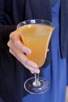 A seasonal take on the Bellini: spiced cider syrup, rich fig vodka, and—of course—Prosecco!