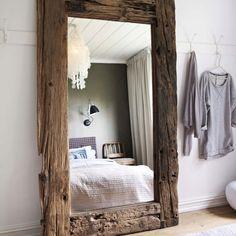 Repurposed wood mirror from bloodandchampagne.com