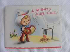 Get Well Card Vintage Mid Century Never Used 1950's Greeting