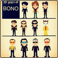 30 years of Bono #Bono #BonoVox #U2