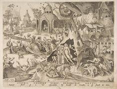 Title: Lust, from The Seven Deadly Sins, 1558 Artist: Pieter Bruegel the Elder Medium: Fine Art Paper Print Pieter Brueghel El Viejo, Pieter Bruegel The Elder, Renaissance Paintings, Seven Deadly Sins, Large Painting, Museum Of Fine Arts, Printmaking, Vanitas, Fine Art Prints