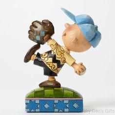 Jim Shore Peanuts Collection Baseball Charlie Brown 4043619 NEW
