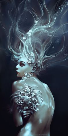 Memento Mori by Wenqing Yan [Yuumei art] Yuumei Art, Merfolk, Mermaid Art, Mermaid Names, Memento Mori, Fantasy World, Fantasy Art Women, Digital Art Fantasy, Fantasy Artwork