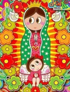 Virgen María, dulce compañía ,siempre a tu lado me quedaría.