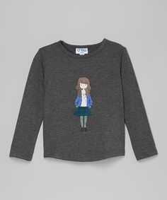 Look what I found on #zulily! Gray Skirted Girl Tee - Infant, Toddler & Girls #zulilyfinds