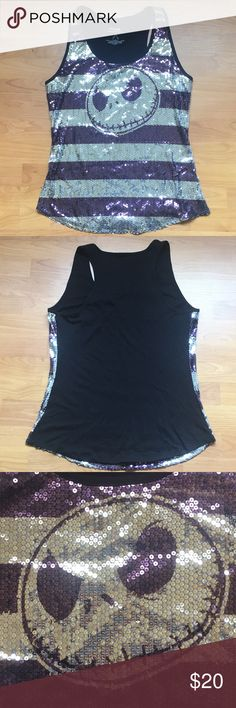 Disney's Nightmare Before Christmas tank Sequined tank from Disneyland! Tried on only once after purchase. Disney Tops