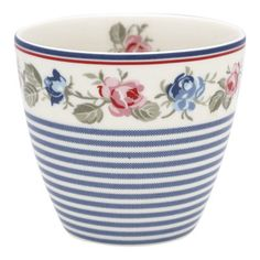 Green Gate-Tazza Latte in porcellana bianca Hailey Stripe Kids Collection, Latte Cups, Tea Mugs, High Tea, White Porcelain, Scented Candles, Decoration, Tea Towels, Stoneware