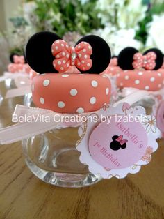 Minnie / Mickey Party Favors Decorations Cold Porcelain https://www.facebook.com/BelaVitaCreationsbyIzabela: