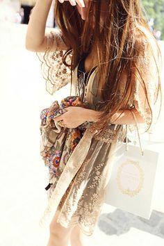 Boho chic. Stunning lace dress