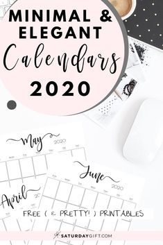 Vertical 2020 Monthly Calendar - Free (and pretty! Free Printable Calendar, Printable Planner, Free Printables, Self Development Books, Personal Development, Monthly Calendars, Cute Pens, Journal Layout, Journal Ideas