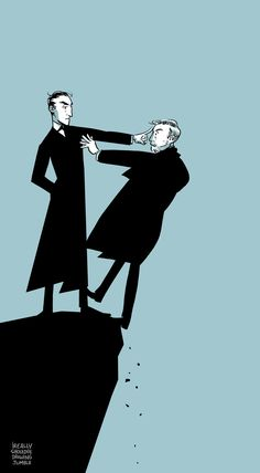 """Reichenbach,"" by ireallyshouldbedrawing Sherlock Holmes, Sherlock Comic, Sherlock John, Moriarty, Detective, Literary Characters, Jeremy Brett, Arthur Conan Doyle, Classic Literature"