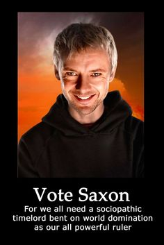 Yeah, right! HEAR TE DRUMS AND VOTE SAXON!!