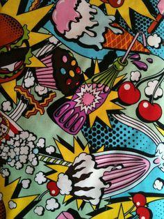 color, comic, food, milkshake, pop art