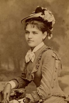 +~+~ Antique Photograph ~+~+  Young woman dressed very fashionably.  Hungary.