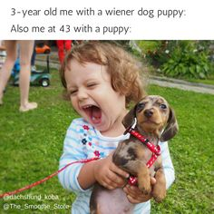 Never fails, crazy wiener dog love overtakes me when I get near a puppy...well not just doxie puppies and doxie.
