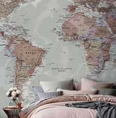 The world at your feet , literally.........well not really African......,but had to share this glorious world-map-wall-paper @notonthehighstreet .......would inspire you to travel #Repost @interiordecoranddesign . . . #ethnicologie #decor#homedecor#interiordesign #boho #design #africa #art#onellaliving #style #interior #designer #eclectic #ethical#sustainable#handmade #home #travel #travelgram #traveller
