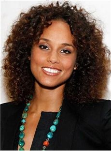 New Arrival Stylish Kinky Curly Medium Length Lace Front Wigs 12 Inches