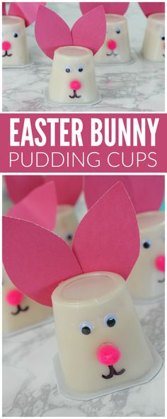 Easter Bunny Pudding Cups
