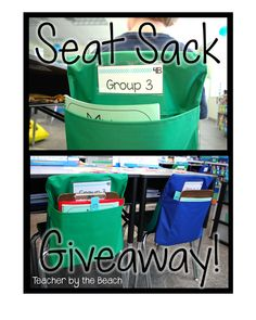 Seat Sack Giveaway!! Even if you don't win the give away it's a fantastic idea for when your classroom has tables instead of desks.