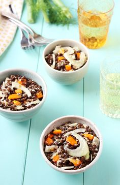 Black Lentil Salad with Fennel and Tangerine Champagne Vinaigrette