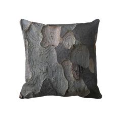 Tree Bark Throw Pillows
