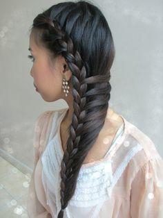 Real Asian Beauty: Side-Swept Mermaid Braid Hair Tutorial
