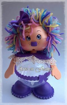 Pote Clay Dolls, Art Dolls, Foam Crafts, Arts And Crafts, Glass Christmas Balls, Halloween Ball, Neon Glow, Paper Clay, Christmas In July