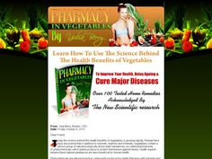 Try Pharmacy In Vegetables Now- http://www.vnulab.be/lab-review/pharmacy-in-vegetables-2